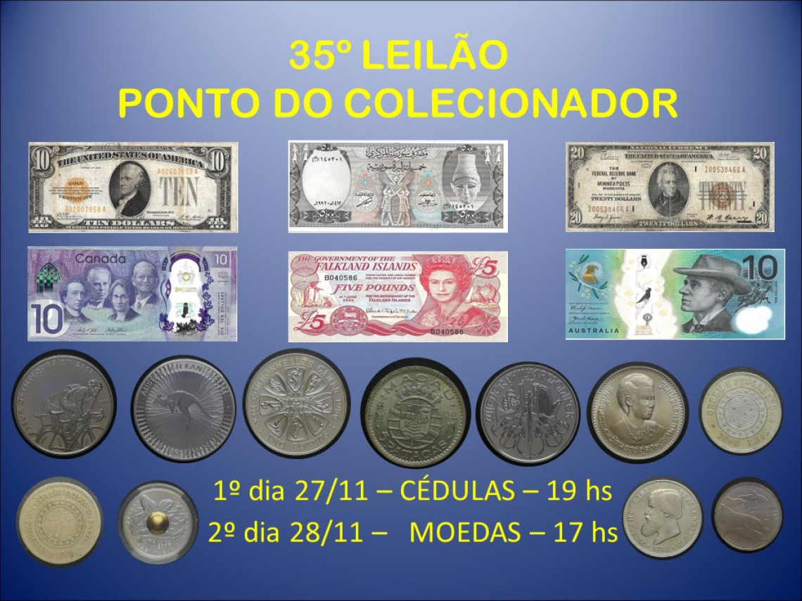 35º LEILÃO PONTO DO COLECIONADOR