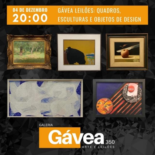 Gávea Leilões: Quadros, Esculturas e Objetos Design