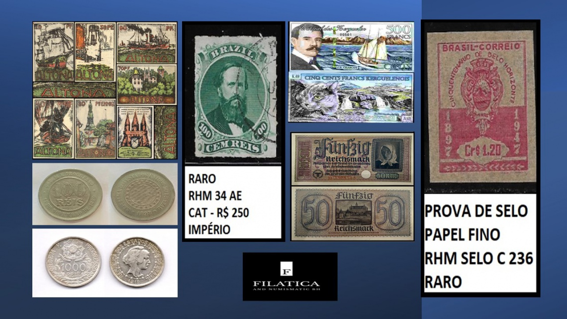 88º LEILÃO FILATICA AND NUMISMATIC BH