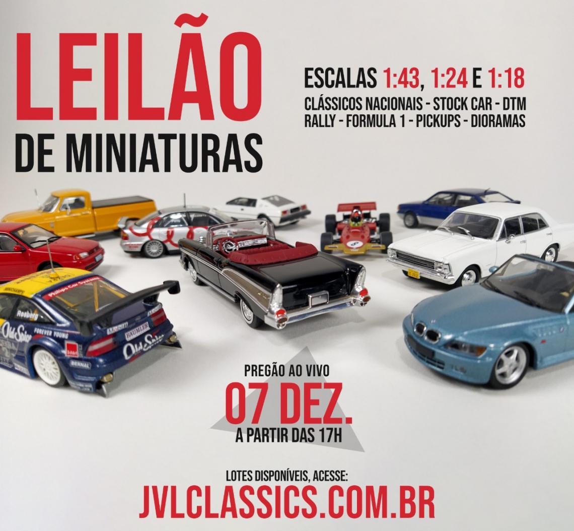 3º Leilão de miniaturas de carros colecionaveis JVL Classics