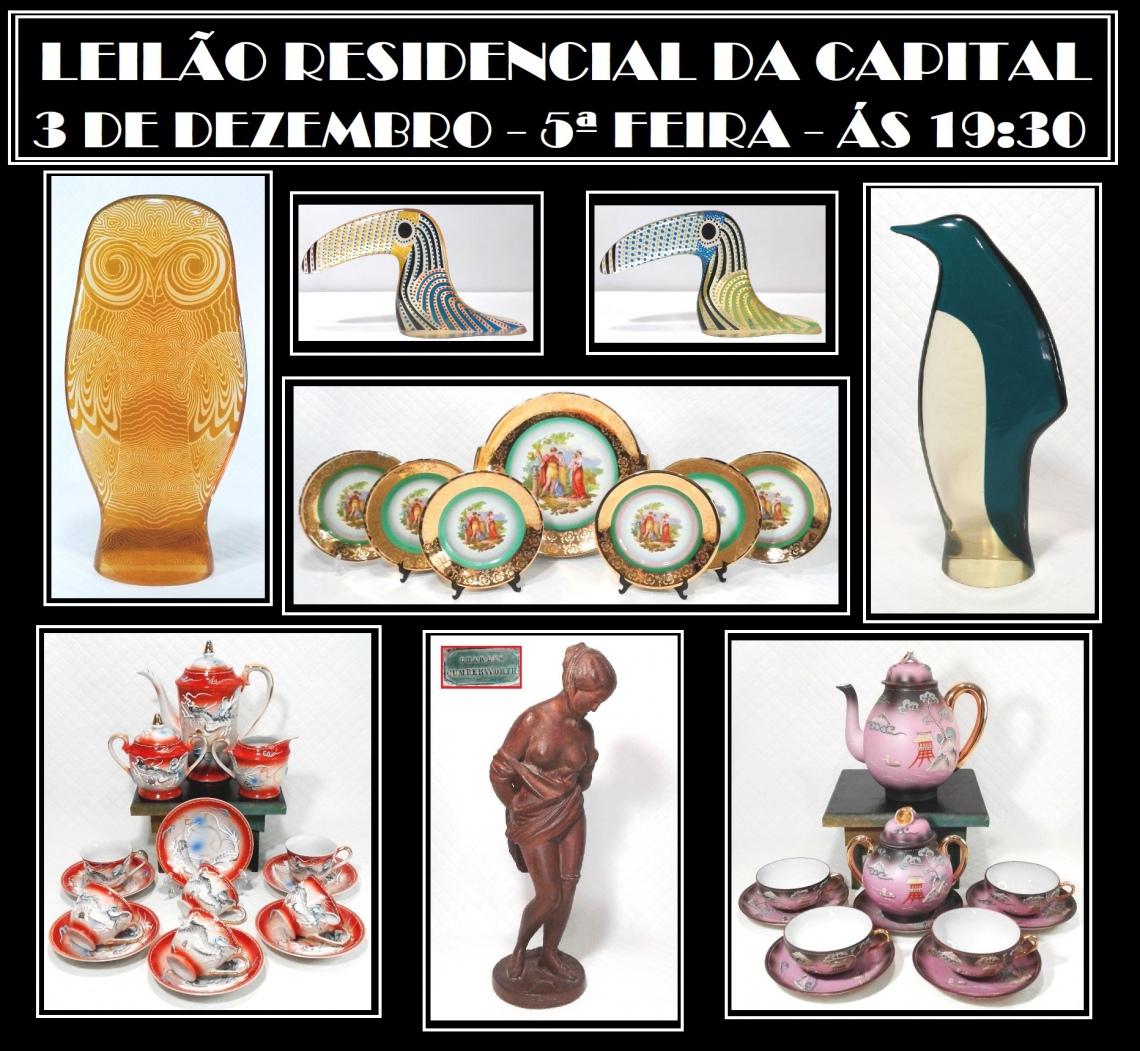LEILÃO RESIDENCIAL DA CAPITAL - PORCELANAS, ESCULTURAS E COLECIONISMO