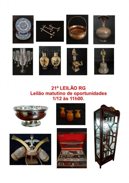 21º LEILÃO RG - Leilão matutino de oportunidades 1/12 às 11h00.