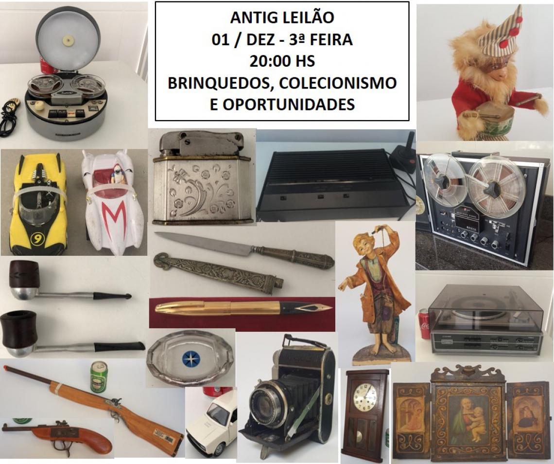 LEILÃO DE BRINQUEDOS, COLECIONISMO E OPORTUNIDADES