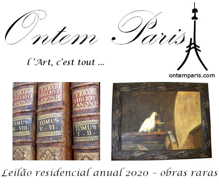 Ontem Paris, leilão residencial anual 2020, OBRAS DE ARTE E LIVROS RAROS