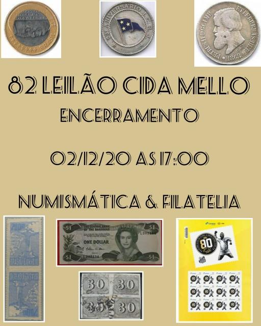 82º LEILÃO CIDA MELLO NUMISMÁTICA E FILATELIA