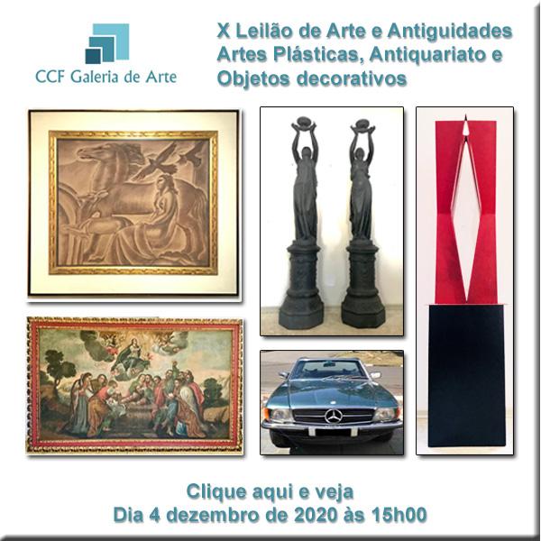 X Leilão CCF Esc. de Arte - antiguidades, obras de arte - 04/12/2020 às 15h00