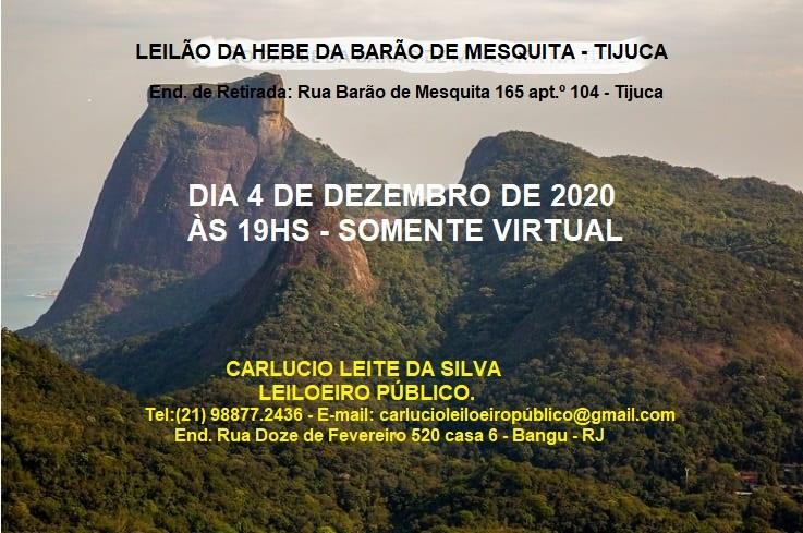 LEILÃO DA HEBE DA TIJUCA - BARÃO DE MESQUITA.