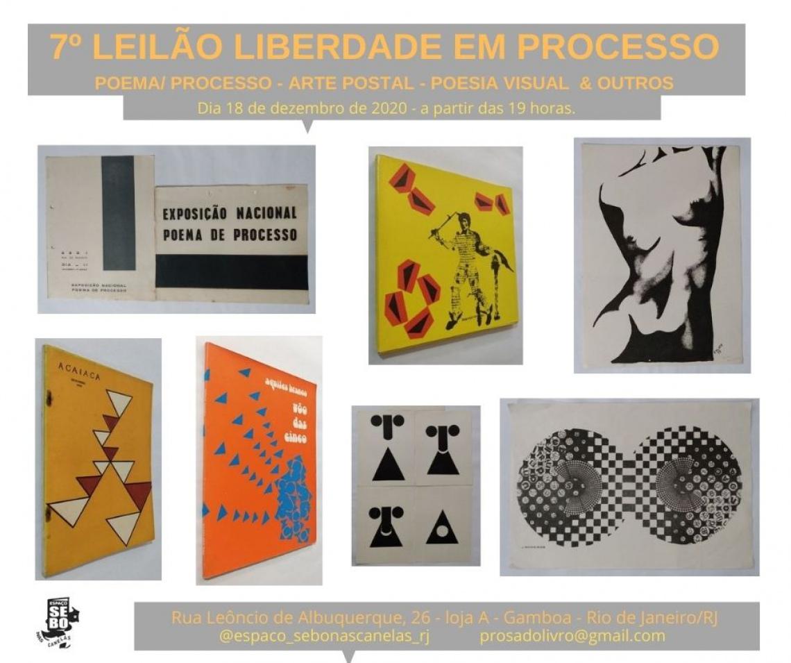 7º LEILÃO LIBERDADE EM PROCESSO- POEMA/ PROCESSO - ARTE POSTAL - POESIA VISUAL  & OUTROS