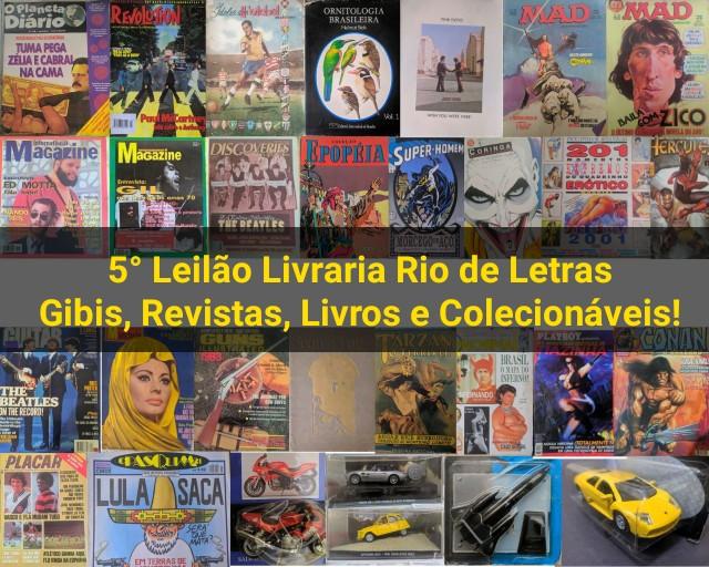 Quinto Leilão livraria Rio de Letras