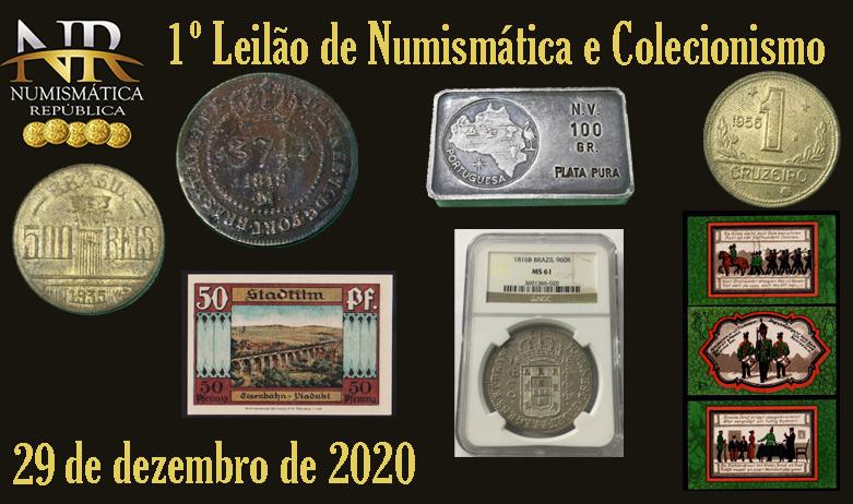 1º Leilão de Numismática - NUMISMÁTICA REPÚBLICA