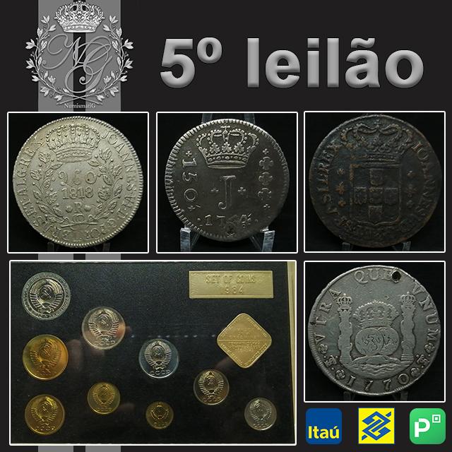 5º LEILÃO DE NUMISMÁTICA - NUMISMATIG LEILÕES