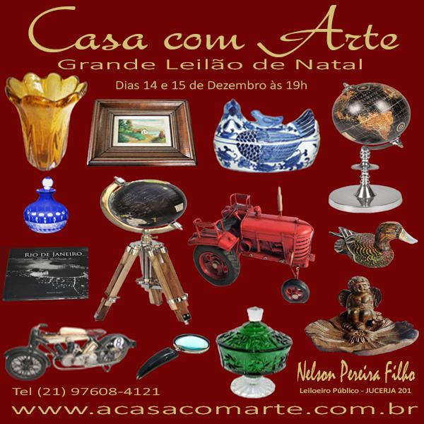 LEILÃO DE NATAL - CASA COM ARTE