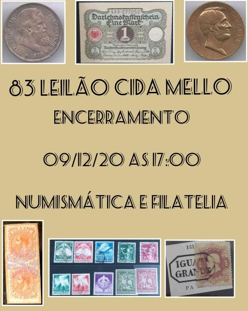83º LEILÃO CIDA MELLO NUMISMÁTICA E FILATELIA