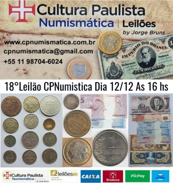 18º LEILÃO CULTURA PAULISTA NUMISMÁTICA