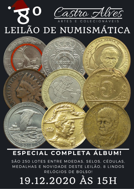8º LEILÃO CASTRO ALVES DE NUMISMÁTICA