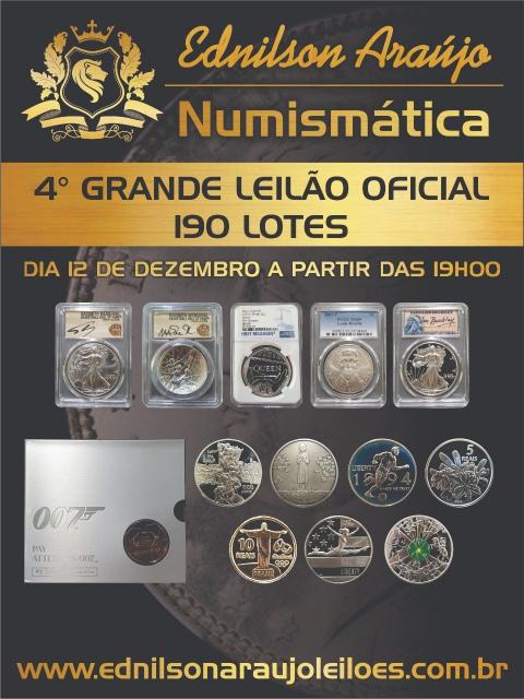 4º LEILÃO EDNILSON ARAUJO NUMISMÁTICA