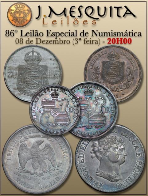 86º LEILÃO ESPECIAL J.MESQUITA  - COLEÇÃO MOEDAS ESTRANGEIRAS E NACIONAIS