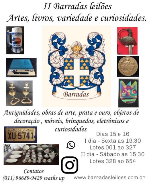 II Barradas Leilões - Artes, Livros, variedade e curiosidades