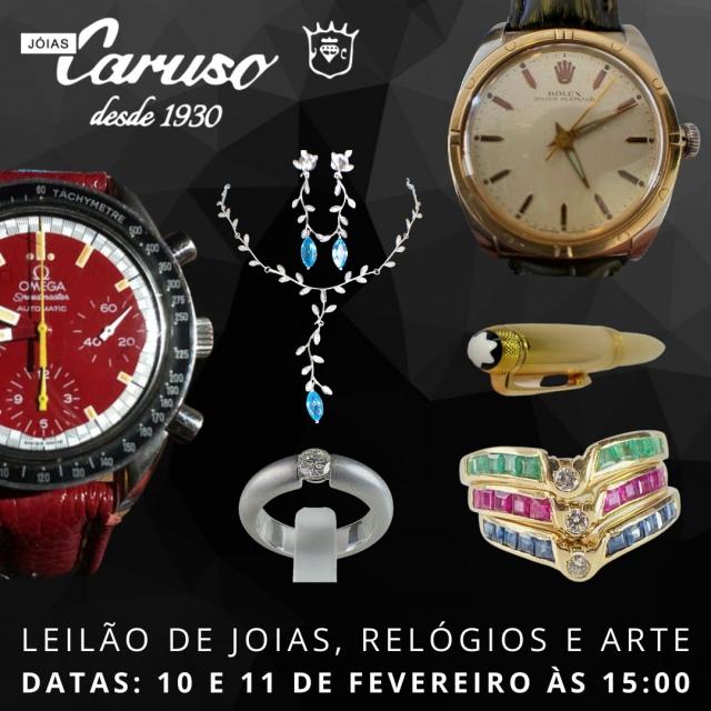 21º LEILÃO DE JOIAS RELÓGIOS E OBJETOS DE ARTE E DECORAÇÃO-JOIAS CARUSO