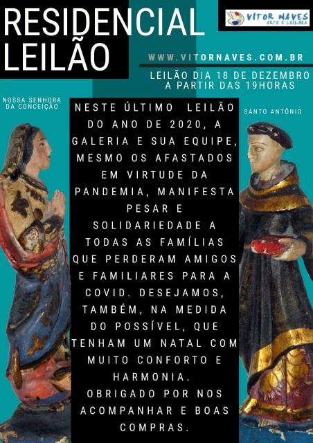 LEILÃO VITOR NAVES DE ARTE E ANTIGUIDADES