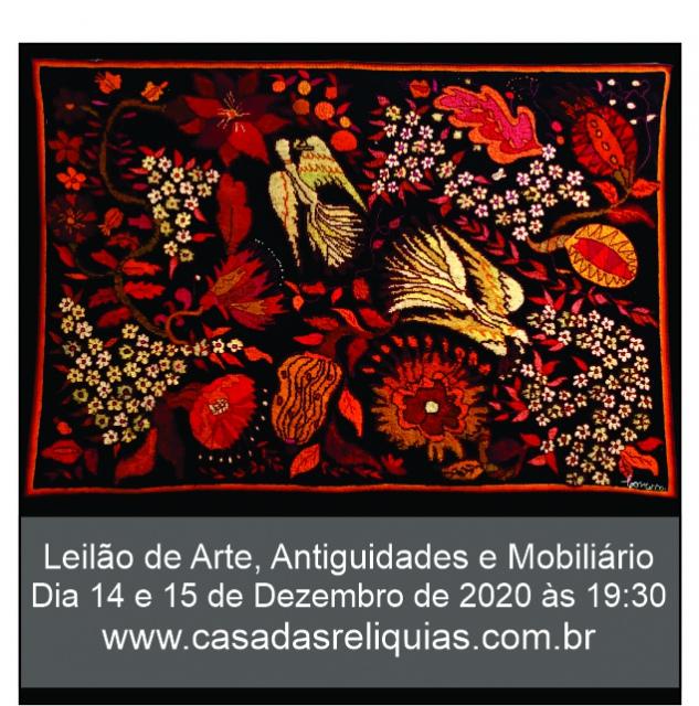 Arte, antiguidade, mobiliário moderno brasileiro e coleção de arte popular brasileira.