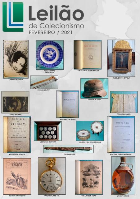 LEILÃO DE COLECIONISMO - FEVEREIRO 2021