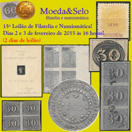 15º Leilão de Filatelia e Numismática com livros e obras de arte!