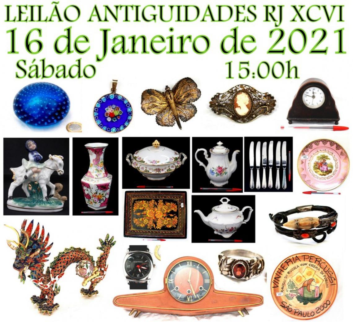 LEILÃO ANTIGUIDADES RJ XCVI