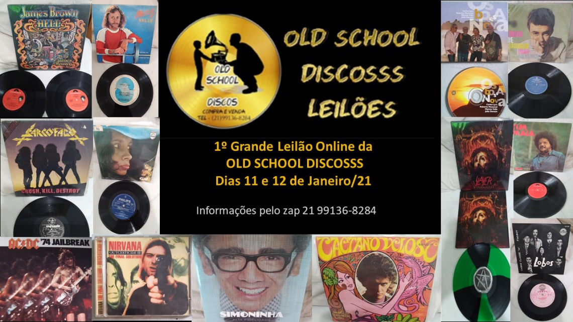 PRIMEIRO LEILÃO DA OLD SCHOOL DISCOS