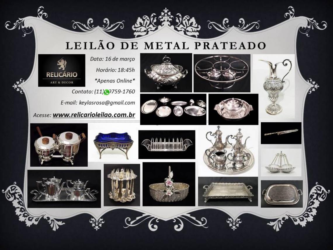 LEILÃO METAL PRATEADO