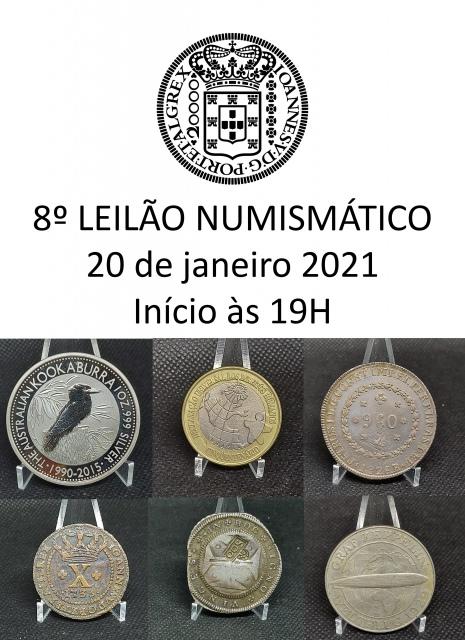 8º Leilão de Numismática