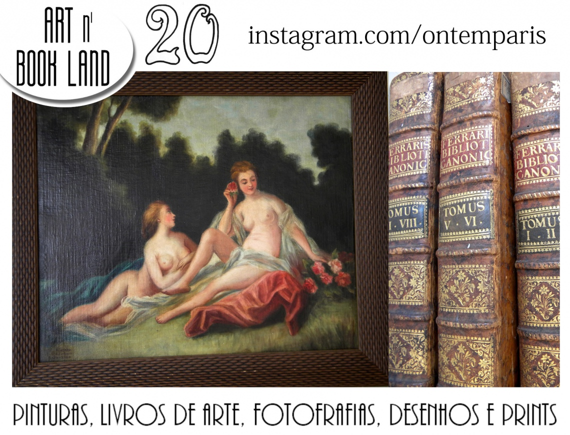 Art n Book Land 20 - leilão residencial - pinturas, livros de arte, fotografias, desenhos e prints