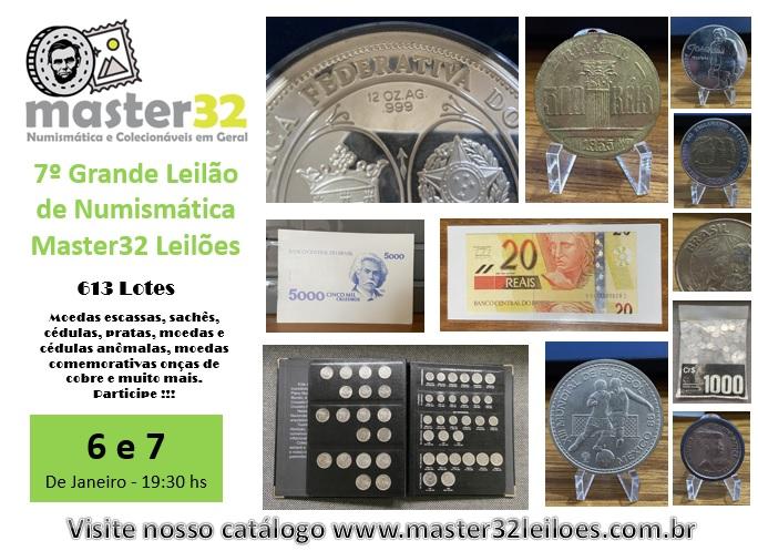 7º Grande Leilão de Numismática - Master32 Leilões