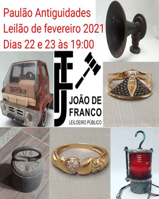 LEILÕES PAULÃO ANTIGUIDADES - FEVEREIRO. 2021