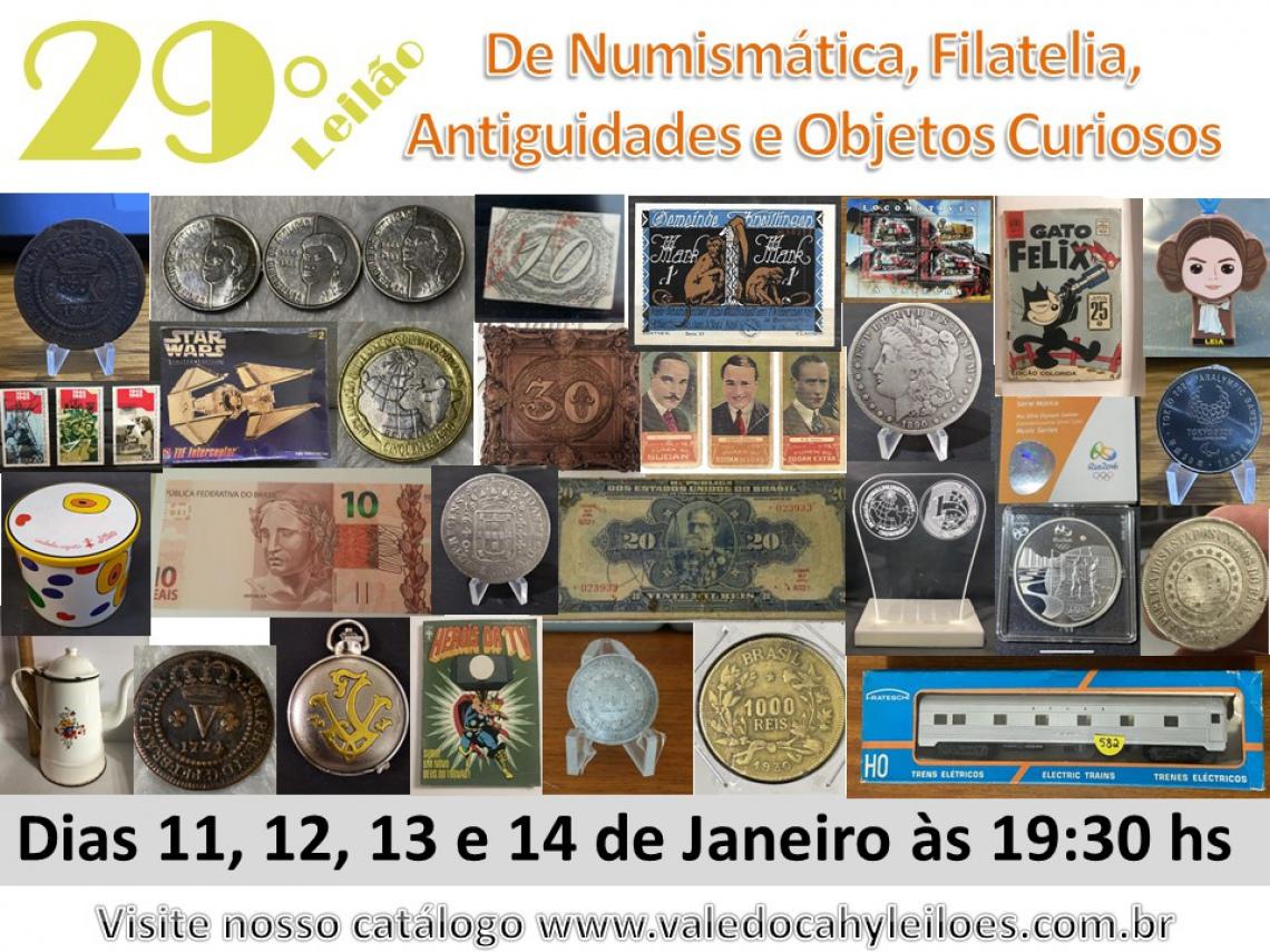 29º Grande Leilão de Numismática, Filatelia, Antiguidades e Objetos Curiosos