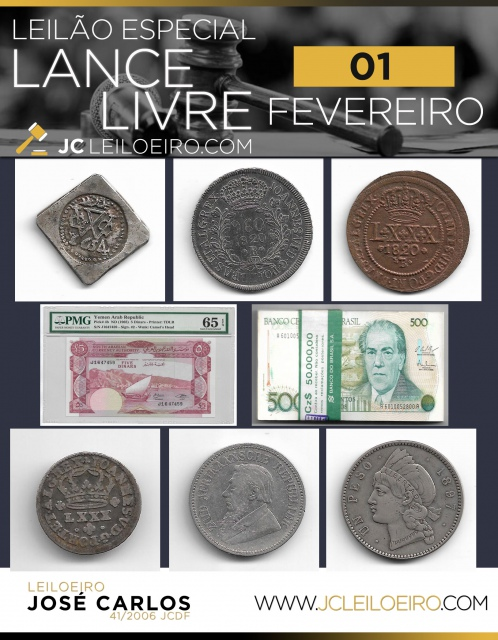 LEILÃO LANCE LIVRE ESPECIAL DE NUMISMÁTICA - FEVEREIRO