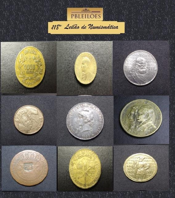 118º Leilão de Numismática Pbleiloes