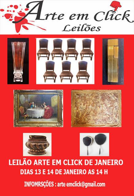 LEILÃO ARTE EM CLICK DE JANEIRO
