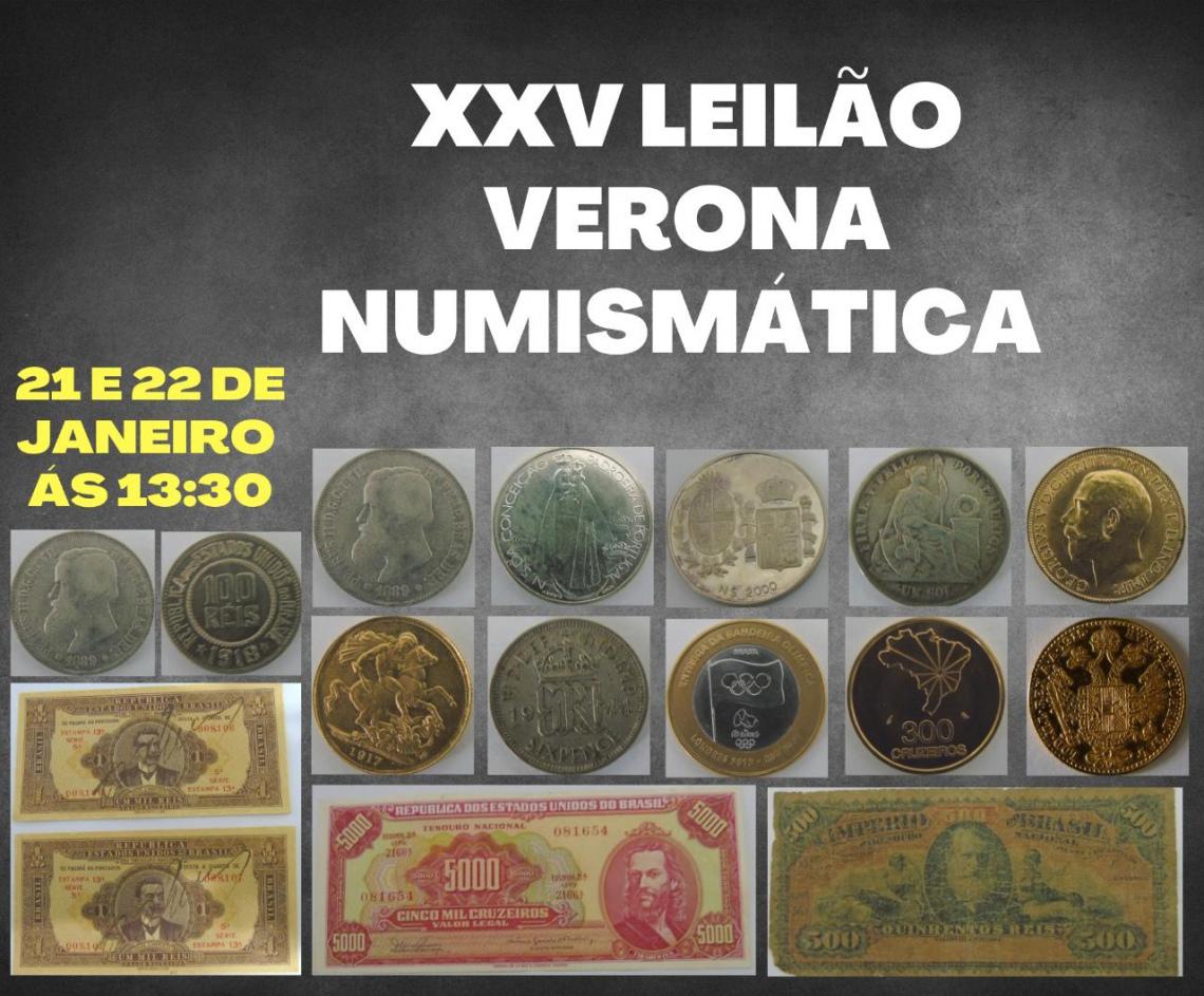 XXV LEILAO VERONA DE NUMISMATICA