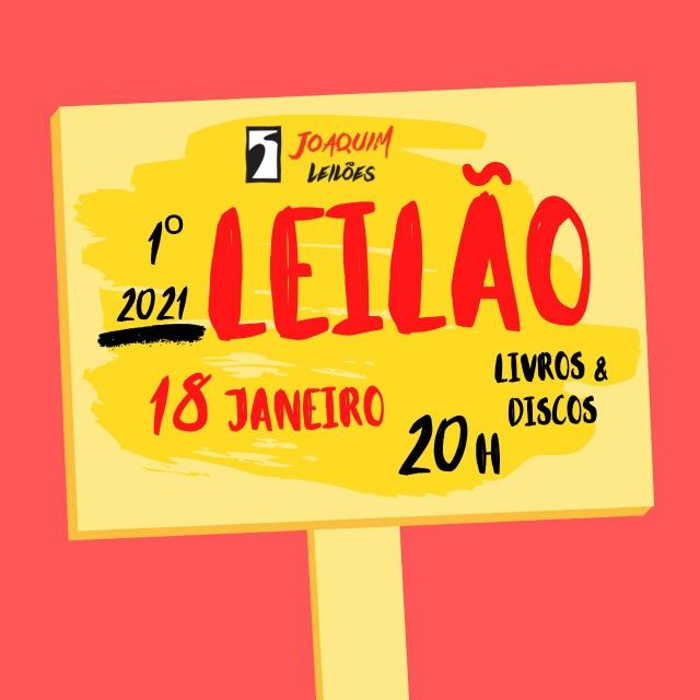 LEILÃO PRIMEIRO LEILÃO JOAQUIM LIVROS E DISCOS 2021