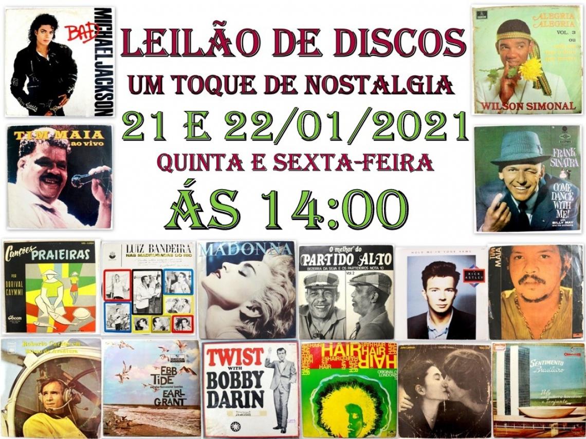LEILÃO DE DISCOS, UM TOQUE DE NOSTALGIA!