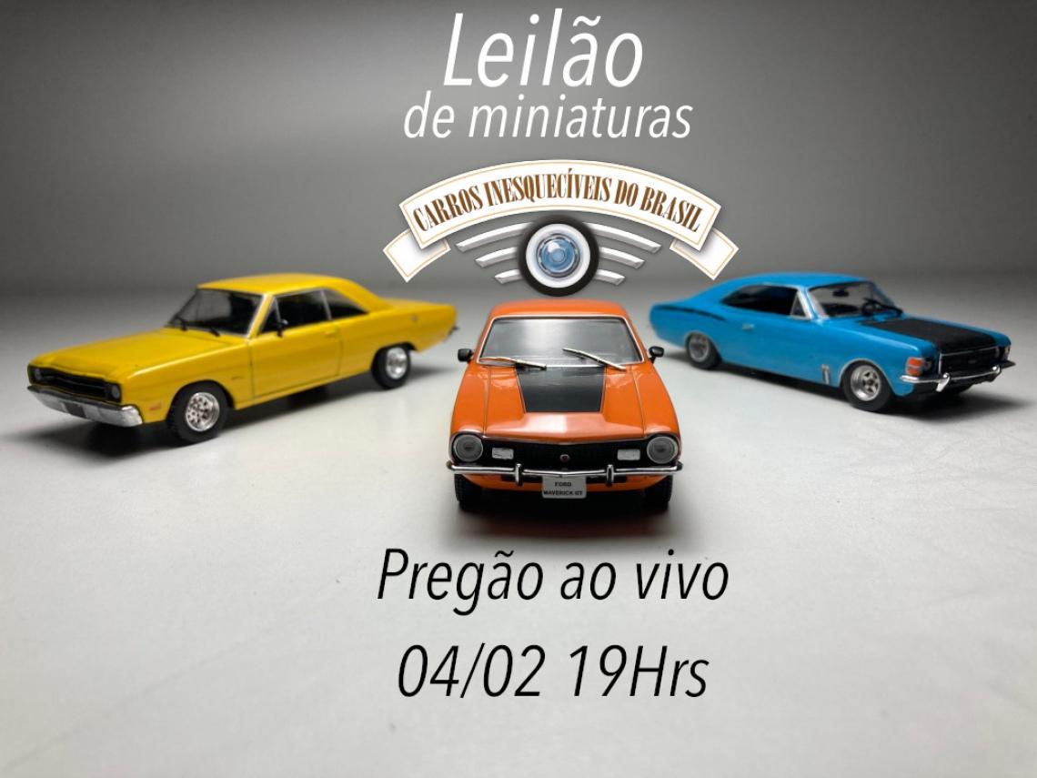 5º Leilão de miniaturas de carros colecionaveis JVL Classics
