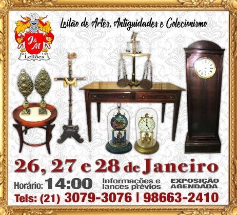 J&M LEILÃO DE ARTES, ANTIGUIDADES E COLECIONISMO.