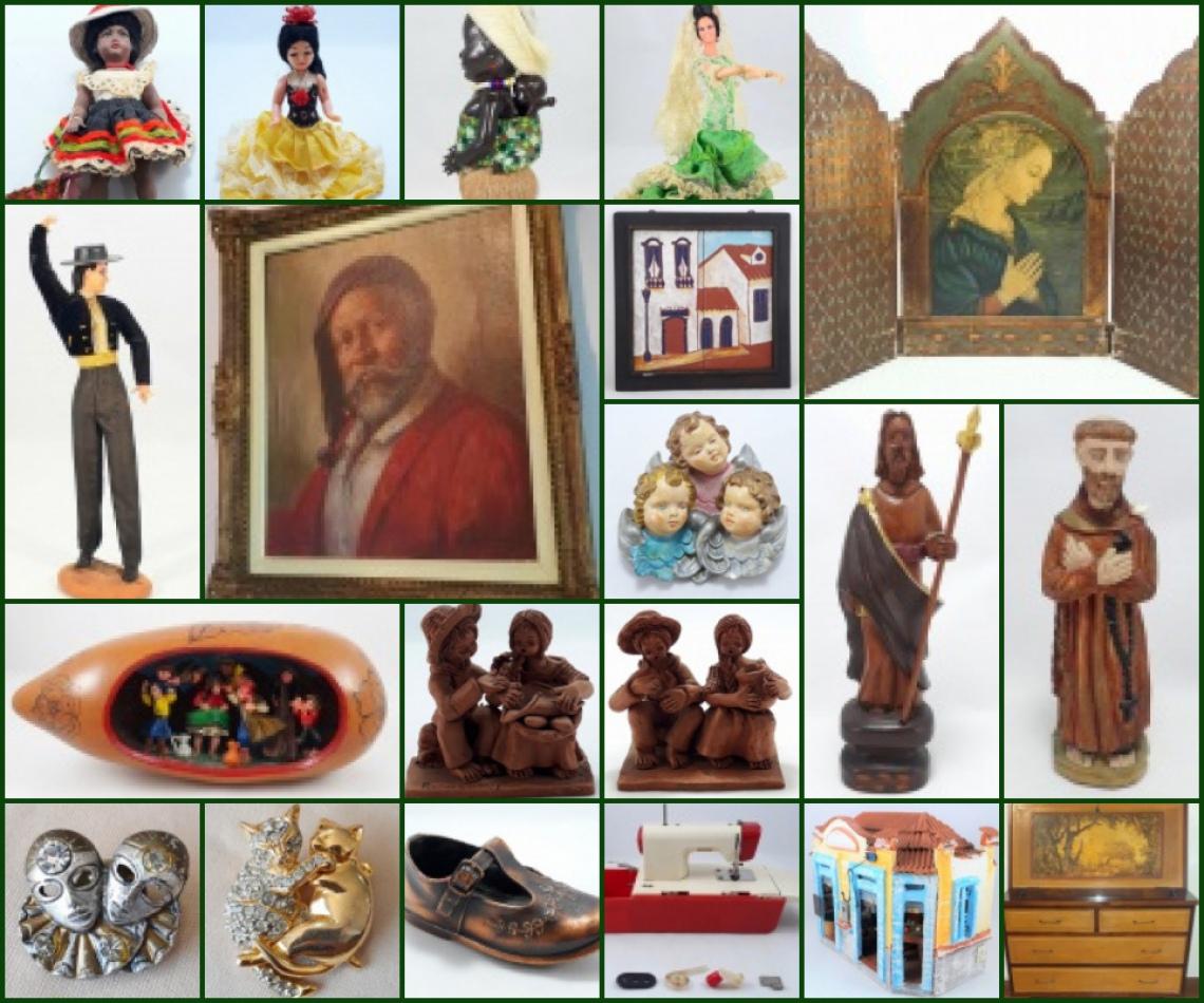 COLECIONÁVEIS DE PATRÍCIA DEMESTRI - (Bonecas, Arte Sacra, Popular, Ambientes Miniatura e outro).