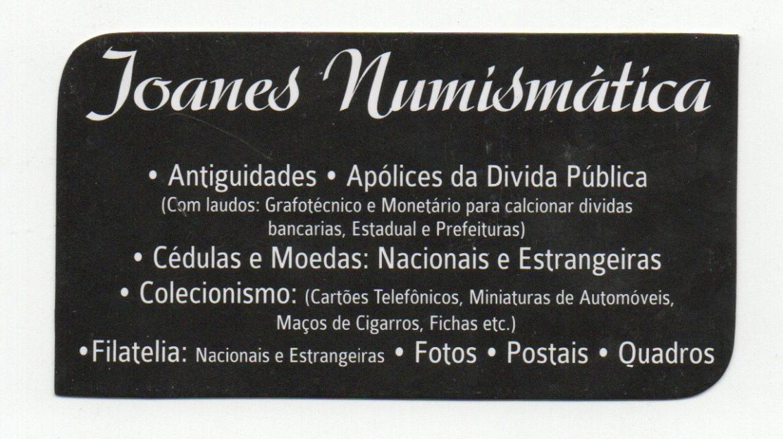 LEILAO DE PEÇAS DE COLECIONISMO, DOCUMENTOS, FILATELIA E NUMISMÁTICA