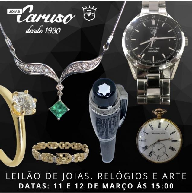 22º LEILÃO DE JOIAS RELÓGIOS E OBJETOS DE ARTE E DECORAÇÃO-JOIAS CARUSO