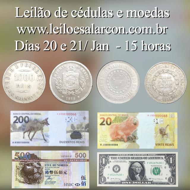 LEILÃO DE CÉDULAS E MOEDAS - FAMÍLIA MORAES