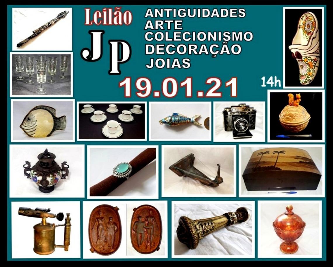 JP  LEILÃO DE PEÇAS RESIDENCIAS DE ARTE, COLECIONISMO,ANTIGUIDADES, JOIAS E DECORAÇÃO.