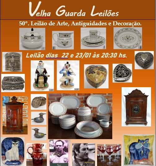 50º LEILÃO VELHA GUARDA LEILÕES - Arte, Antiguidades, Decoração e Colecionismo