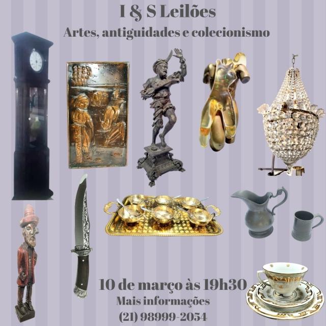 I & S VII LEILÃO DE ARTES E ANTIGUIDADES E COLECIONISMO
